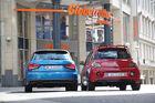 Audi A1 Sportback 1.4 TFSI, Opel Adam S, Heckansicht