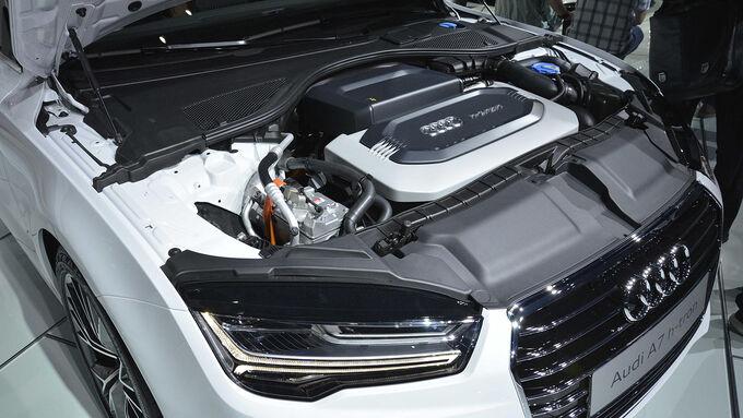 A7 sportback h tron quattro auf der l a autoshow for H and h motors
