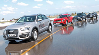 Audi Q3, BMW X1, Mercedes GLA, Mini Countryman Cooper S, Seitenansicht