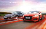 Audi TT Coupé 2.0 TFSI, Porsche Cayman, Front view