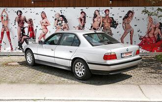 BMW 728i Typ E38, Heckansicht