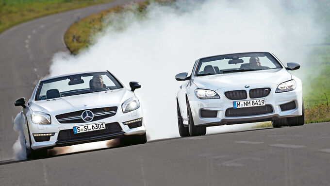 BMW M 6 Convertible, Mercedes SL 63 AMG, Front view