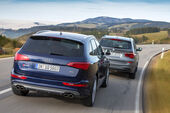 BMW X3 35d x-Drive, Audi SQ5 3.0 TDI, Heckansicht
