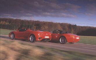 BMW Z8 gegen Ferrari 360 Spider