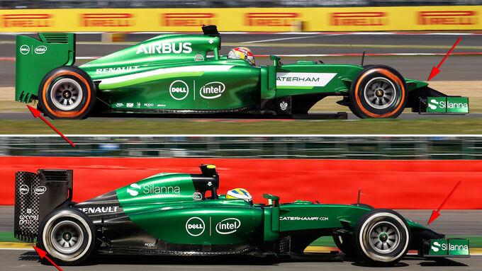 Caterham - Formel 1 - Technik - GP Belgien 2014