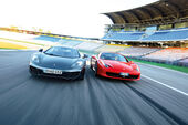 Ferrari 458 Italia, McLaren MP4-12C, Front