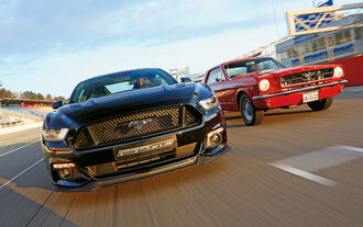 Ford Mustang GT Fastback 2015 and Hardtop Coupé 1965