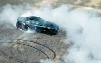 Ford Mustang Shelby GT 500, Burnout