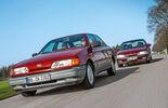 Ford Scorpio 2.0i Ghia, Opel Omega 2.6i CD Diamant, Frontansicht