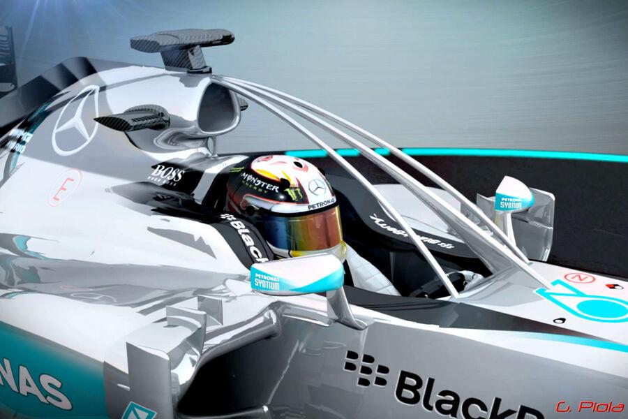 Formel 1 überrollbügel