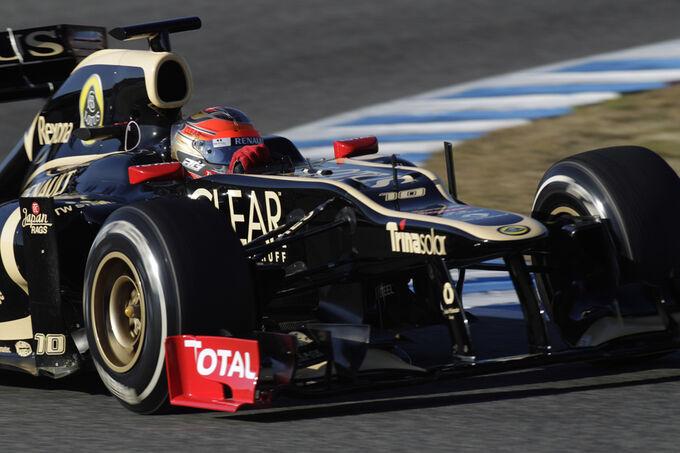Formel 1 test jerez 10 2 2012 romain grosjean lotus renault gp