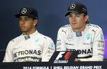 Hamilton Rosberg - Mercedes - Formel 1 - GP Belgien - Spa-Francorchamps - 23. November 2014