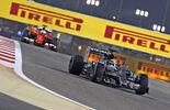 Hamilton  Vettel - Formel 1 - GP Bahrain - 18. April 2015