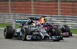 Hamilton  Vettel - Formel 1 - GP Bahrain - Sakhir - 5. April 2014