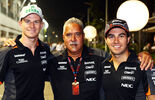 Hülkenberg, Mallya Perez - Force India - GP Singapur 2015
