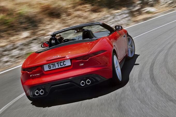 Jaguar f type s cabrio bilder jaguar f type s cabrio