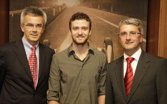 Justin Timberlake, Rupert Stadler, Peter Schwarzenbauer
