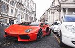 Lamborghini Aventador LP 700-4, Frontansicht, Rom, Taxis