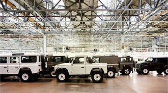 Land Rover Defender Produktion Sollihull 4wf