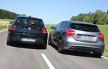 Mercedes A 45 AMG, BMW M135i xDrive, Heckansicht