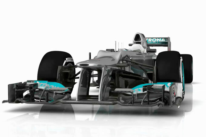 Mercedes AMG F1 W03 Updates Piola Technik