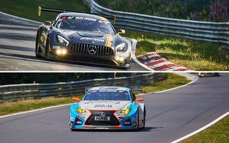Lexus RC F GT3, Mercedes AMG GT3