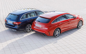 Mercedes CLA Shooting Brake, Mercedes C-Class T-Model, Plan view