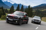 Mercedes GLA 250 4Matic, Mini Countryman JCW All4, Frontansicht