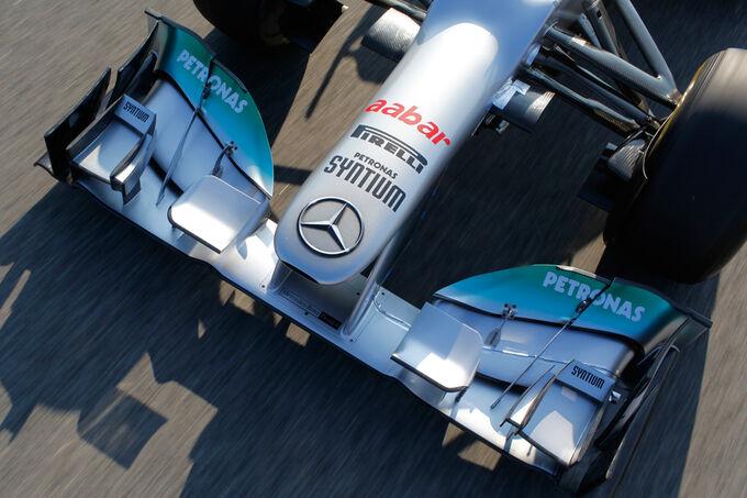 Mercedes W03 Test Barcelona 2012