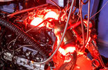 Motor Mercedes AMG GT, Test stand, Glowing turbo charger
