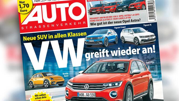 Neues Heft, AutoStraßenverkehr, 25/2015, Vorschau, Preview