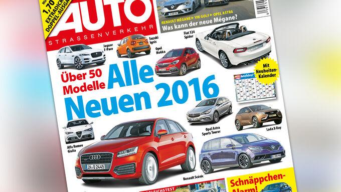 Neues Heft, AutoStraßenverkehr, Ausgabe 01+02/2016, Vorschau
