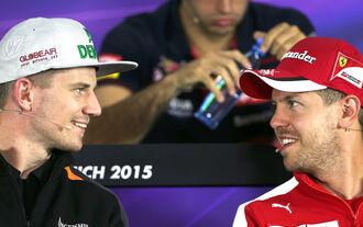 Nico Hülkenberg Sebastian Vettel - F1 2015
