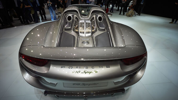 porsche 918 spyder auf der iaa hybrid supersportler mit 887 ps auto motor und sport. Black Bedroom Furniture Sets. Home Design Ideas
