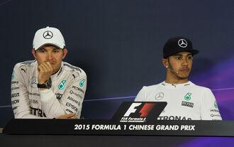 Rosberg Hamilton - Formel 1 - GP China 2015