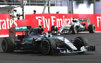 Rosberg Hamilton - GP Mexiko 2015
