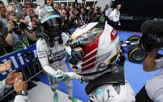 Rosberg Hamilton - GP Österreich 2014