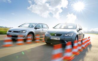 Seat León 1.4 TSI, VW Golf 1.4 TSI, Frontansicht