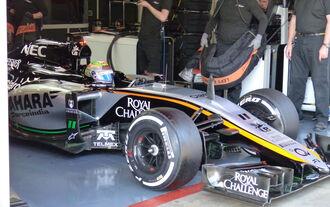 Perez testet neuen Force India