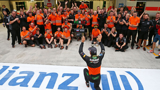Force India mit Risiko