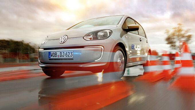 VW E-Up, Frontansicht, Bremstest