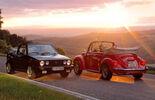 VW Golf I Cabriolet, VW Käfer, Seitenansicht