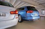 VW Passat Variant 2.0 TDI, BMW 518d Touring, Heckansicht