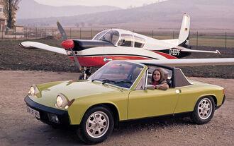 VW-Porsche 914, Seitenansicht