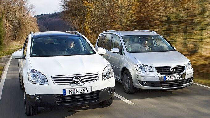 VW, Touran, Nissan, Qashqai, vtest, aumospo0309