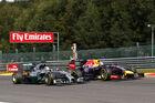 Vettel Hamilton - GP Belgien 2014